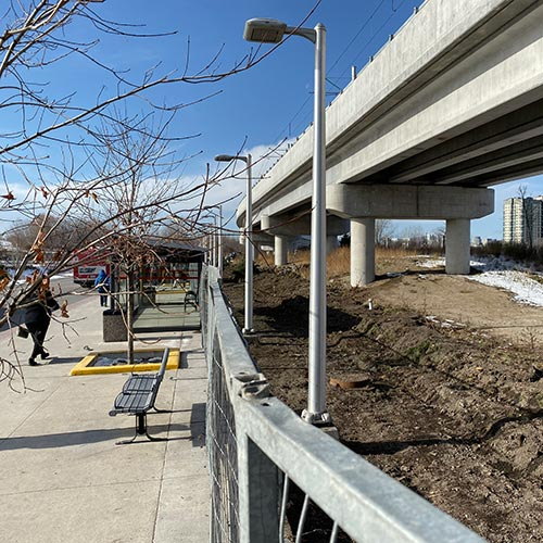 Image of Hurdman Station Pedestrian Bypass Lane construction