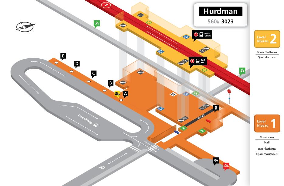 New Hurdman Station layout