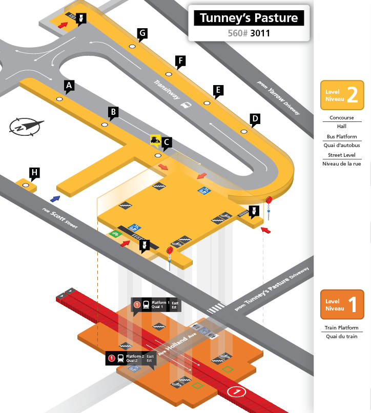 New Tunney's Pasture station layout