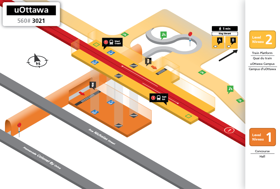 New uOttawa Station layout
