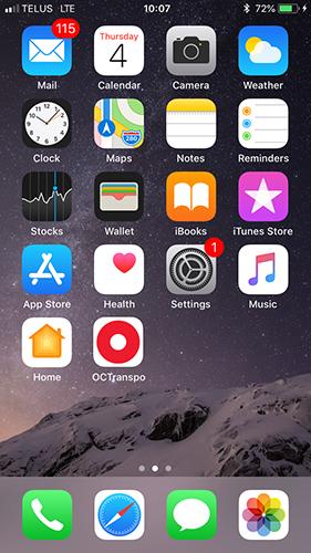 La nouvelle icône d'écran d'accueil de l'application d'OC Transpo