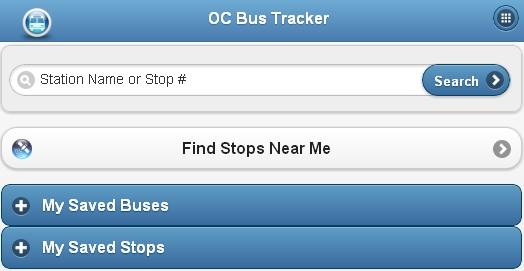 OC Bus Tracker - Screenshot 1