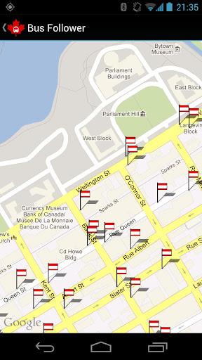 Un outil de suivi des autobus à Ottawa - Screenshot 2