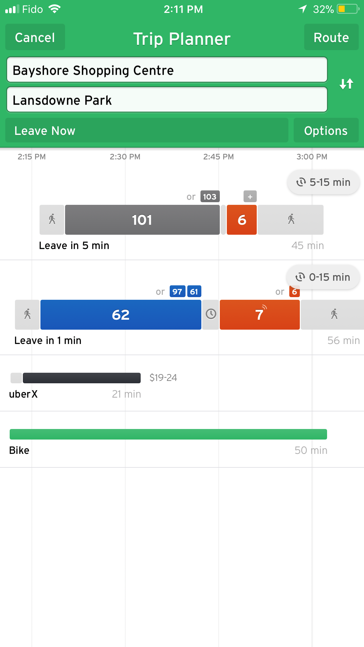 Transit App - Screenshot 2