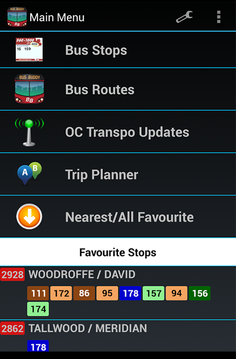 L'application BusBuddy Ottawa - Screenshot 1