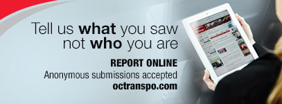 Tell us what you saw not who you are. Report online, anonymous submissions accepted.