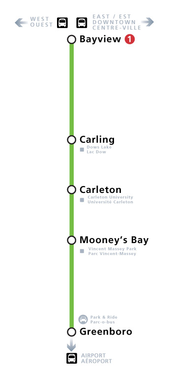 Line 2 route map with station locations.