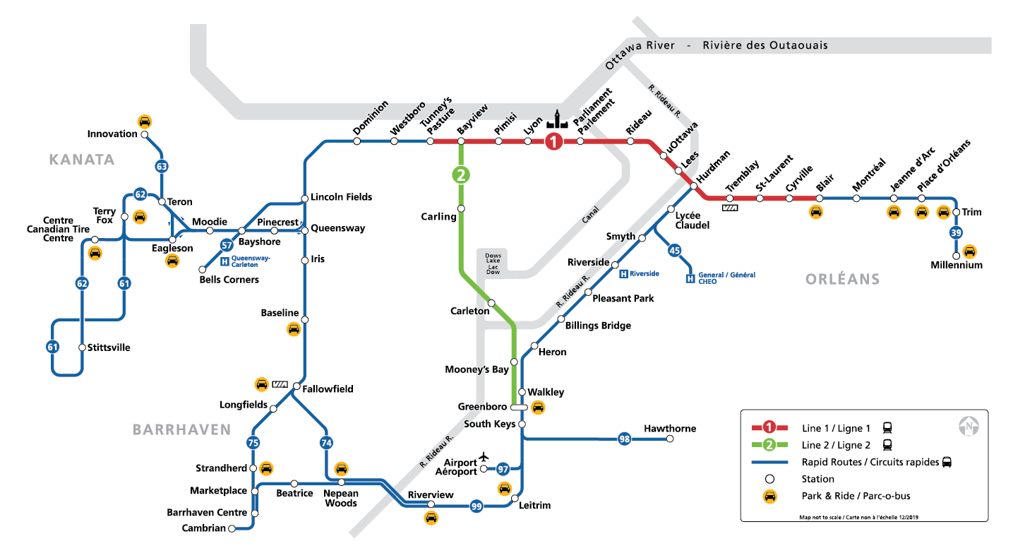 Carte du réseau de circuits rapides