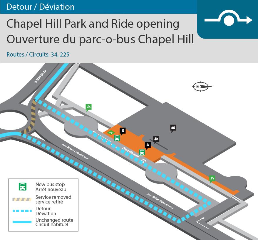 Chapel Hill Park & Ride Opening detour