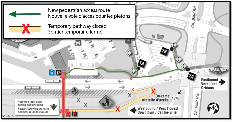 Blair Pedestrian Overpass Re-opening