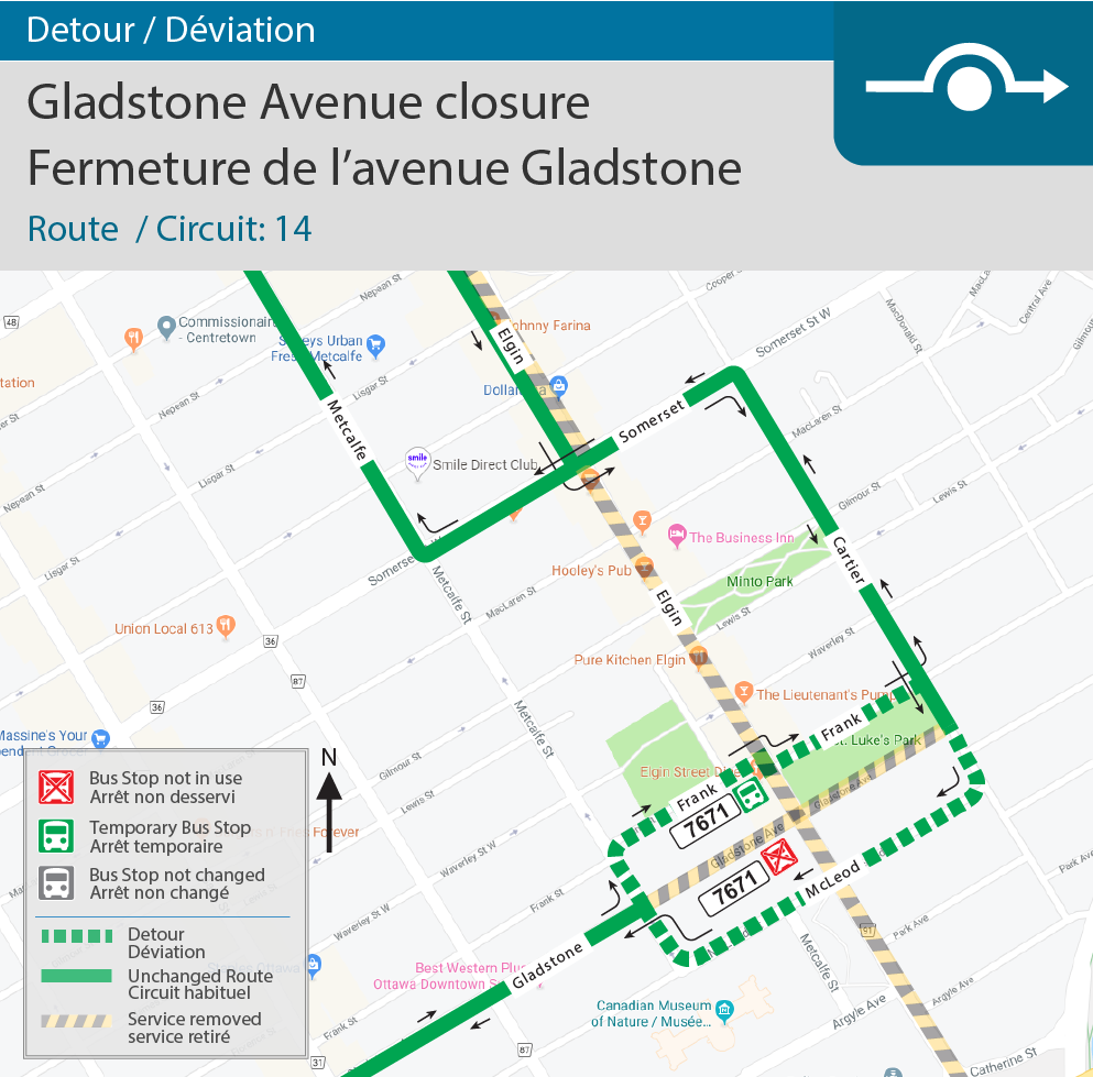 Map for Gladstone Closure