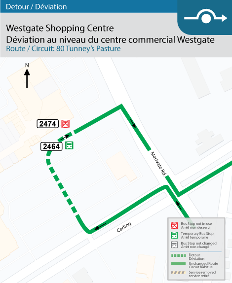 Westgate shopping centre detour