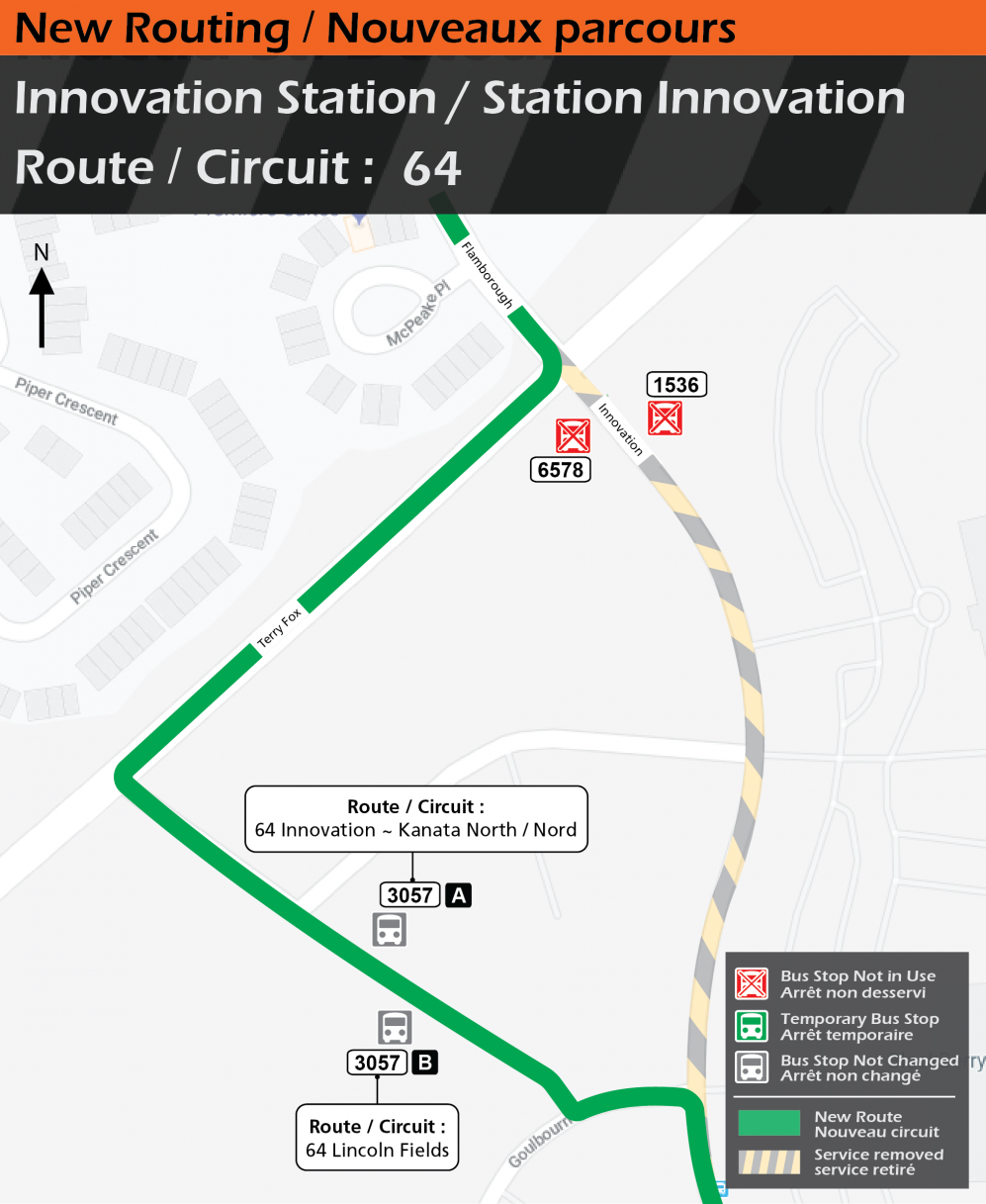 New Route 64 service at Innovation Station