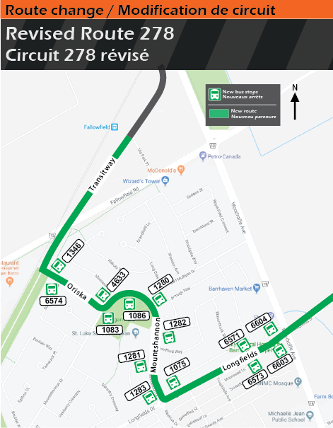 New route 278 routing