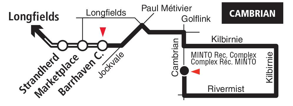 Carte du tronçon de Barrhaven du circuit 275