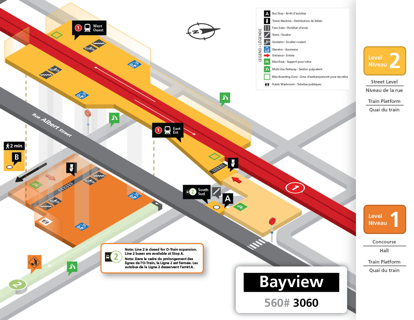 Bayview station layout