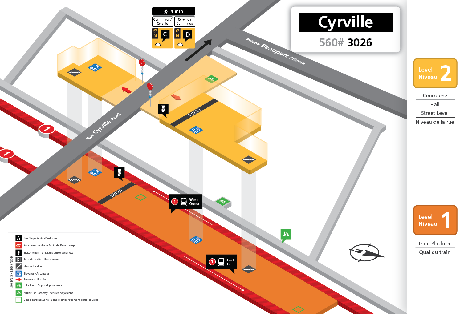 New Cyrville station layout