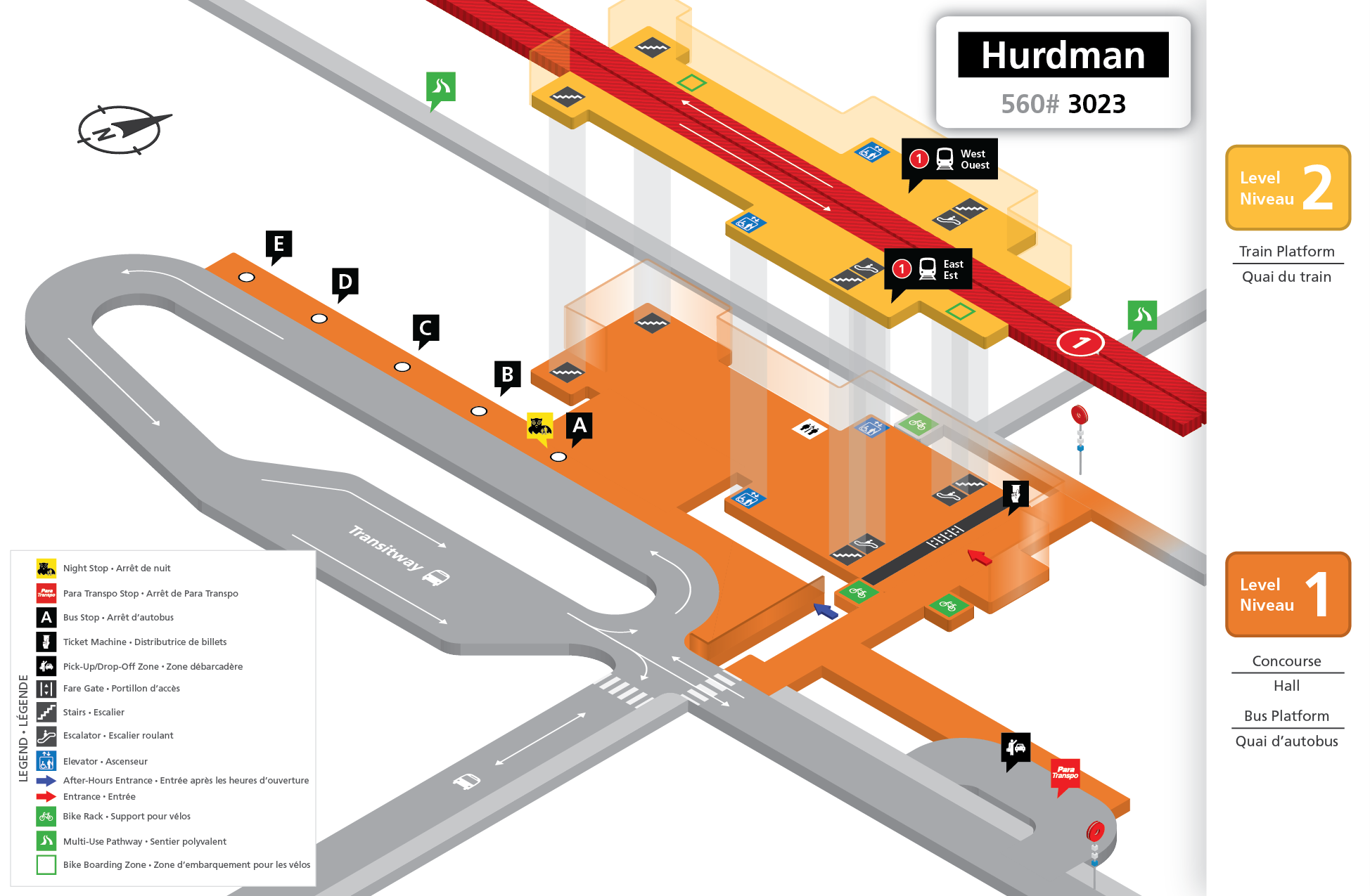 New Hurdman Station layout