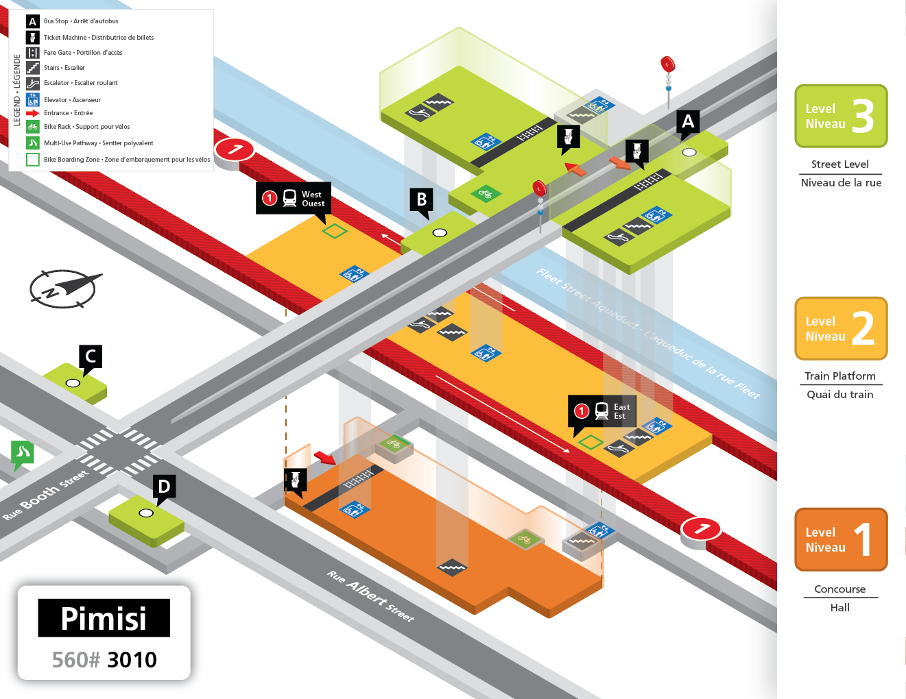 New Pimisi Station layout