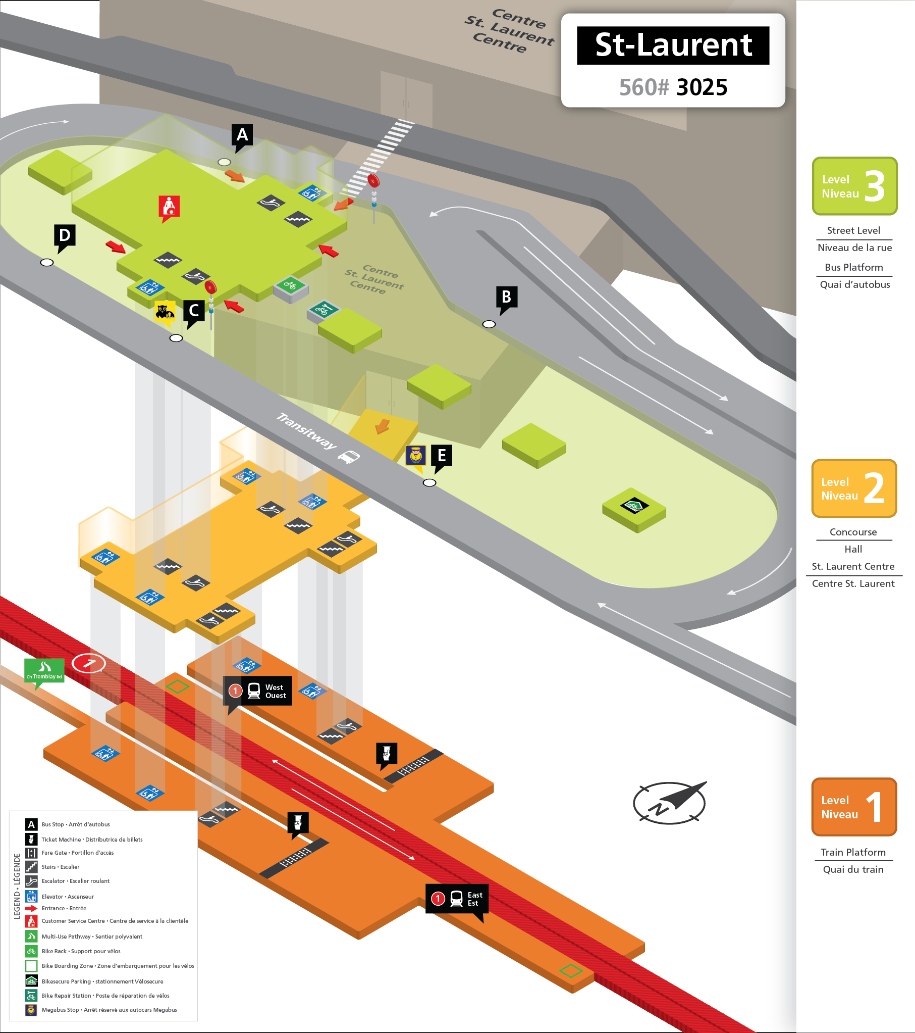 New St-Laurent Station layout
