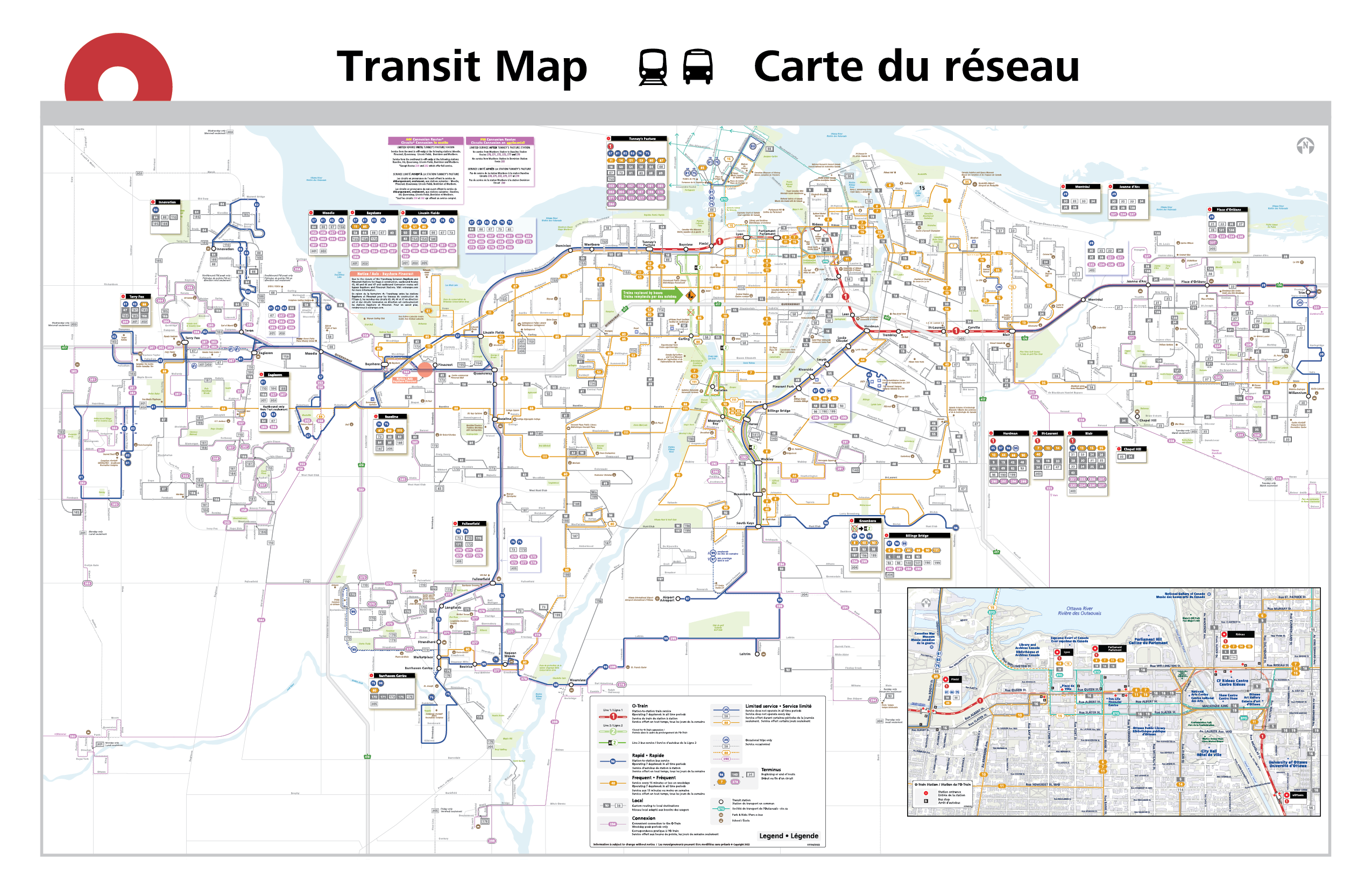 OC Transpo network map