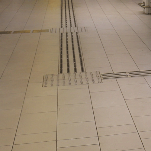 Photo of guidance tactile walking surface indicators