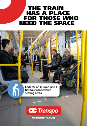 The train has a place for those who need the space.