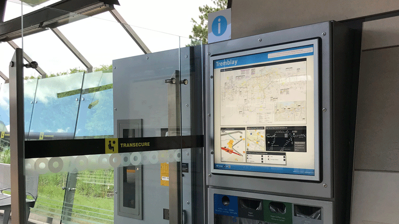 Image of Transit Information Panels at Tremblay station
