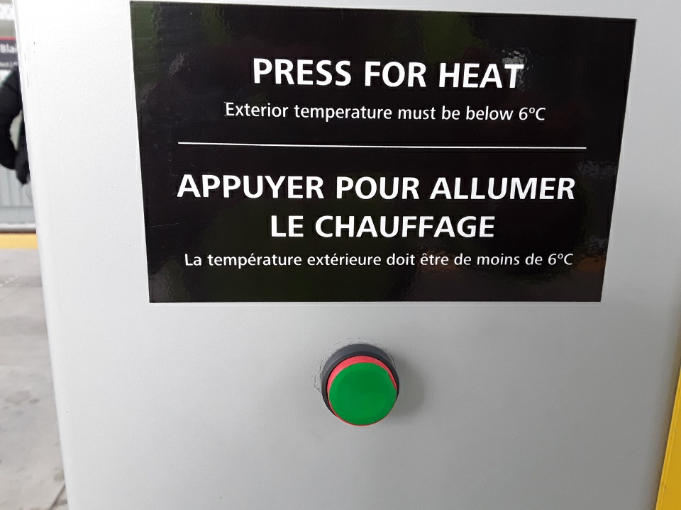 Example of a station heater button