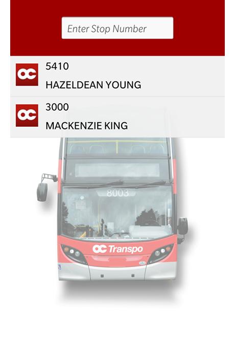 OC Transpo Buddy - Screenshot 1