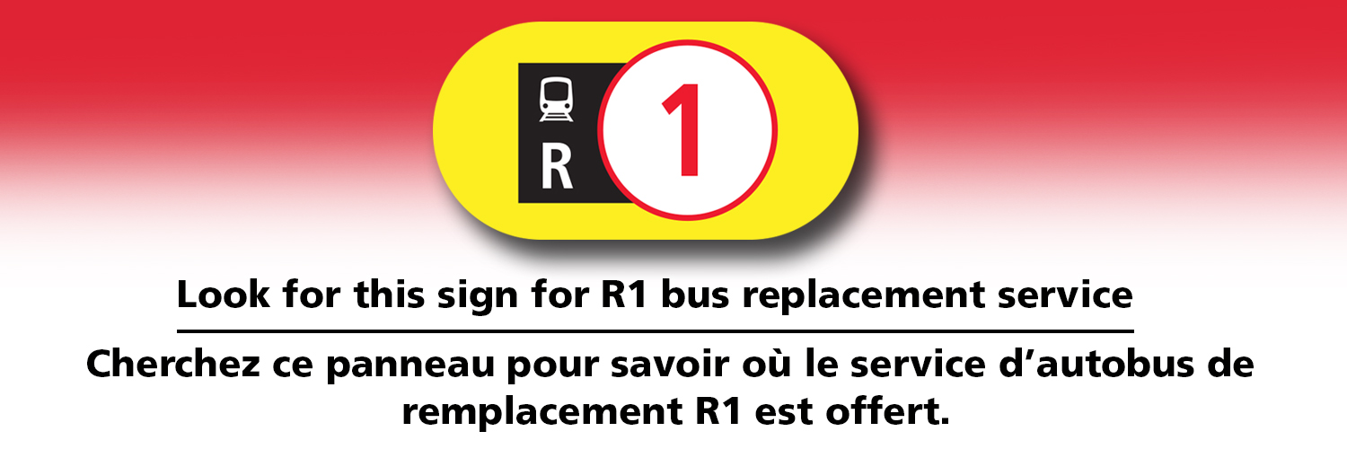 Example of R1 bus stop sign