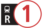 Route icons for R1 service