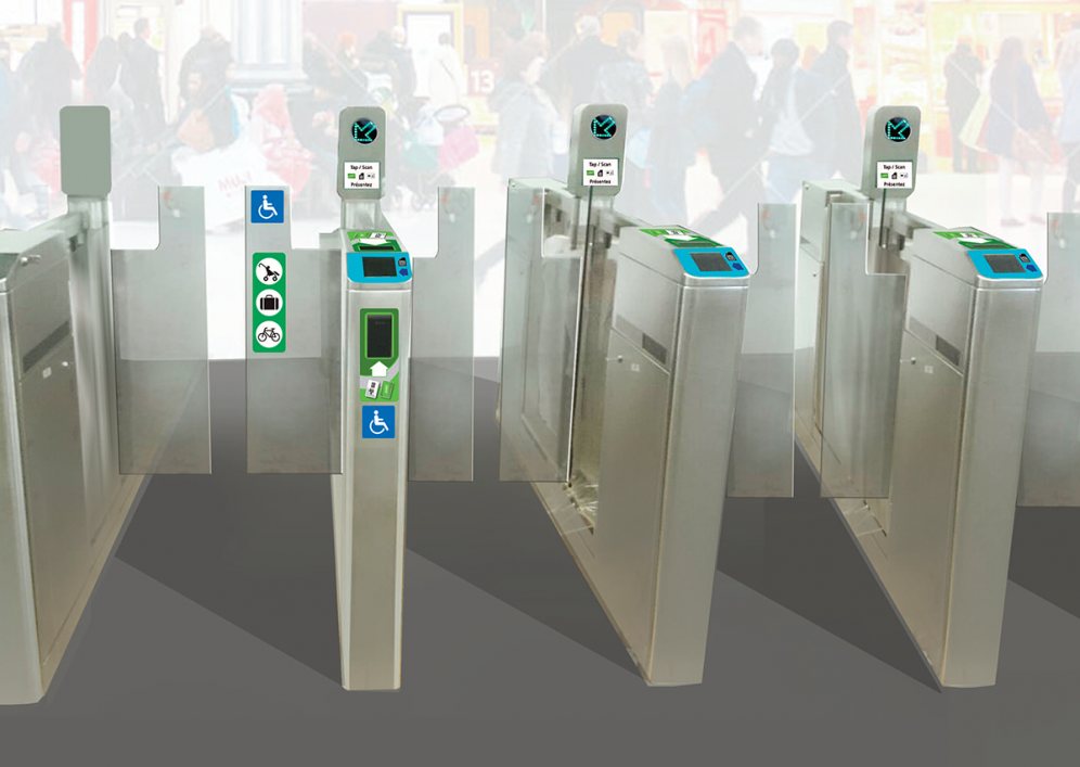 Row of fare gates