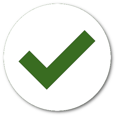 Checkmark indicating fare successfully processed