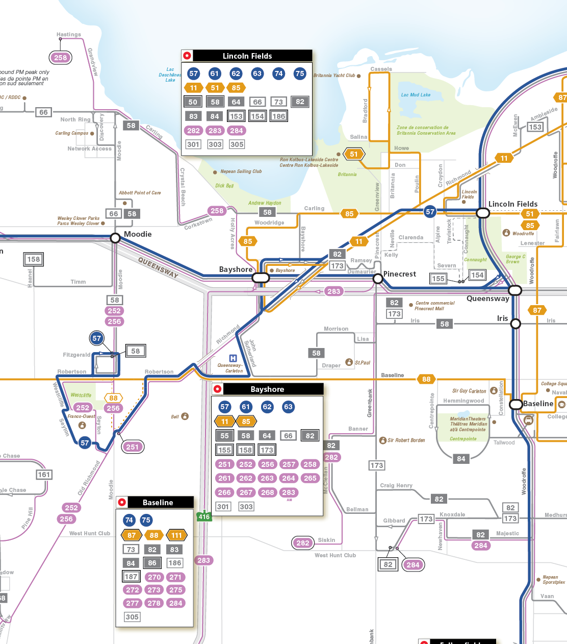 Bayshore and Bells Corners service map