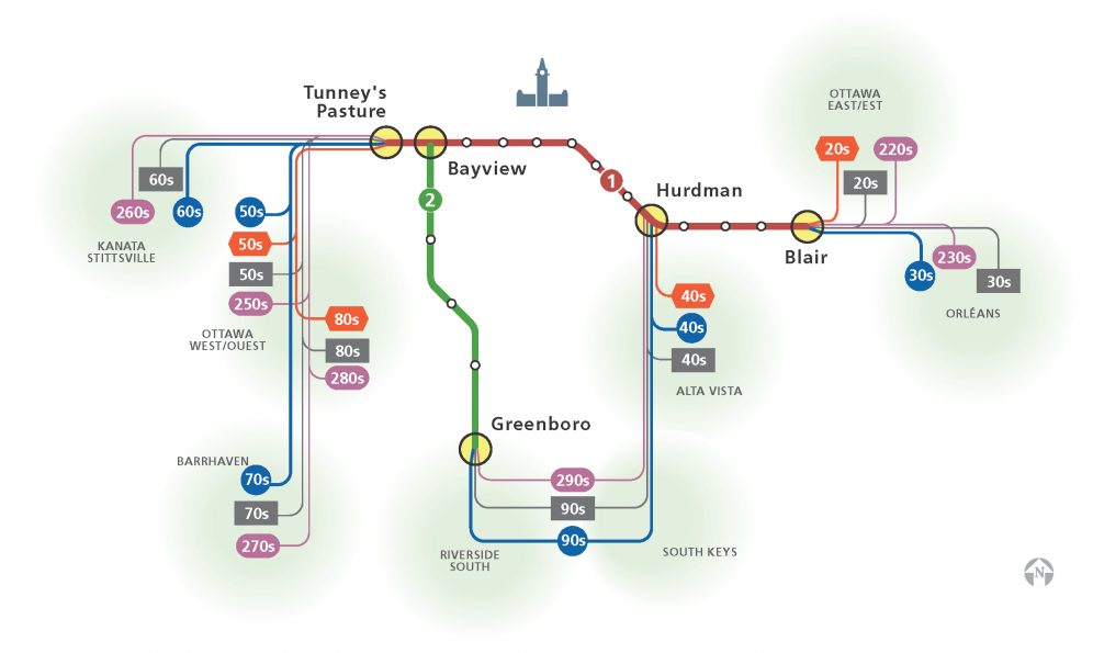 Overview of service to fare-paid zone transfer stations