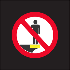 Do not stand on train platform edge