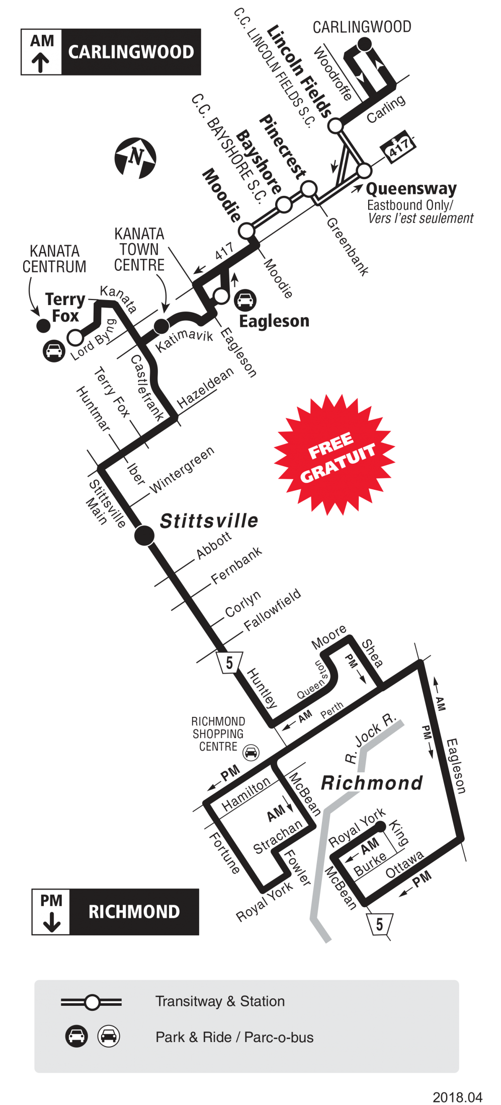 Route 301 map