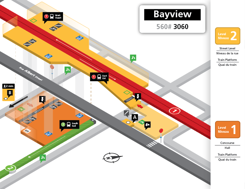 New Bayview Station layout