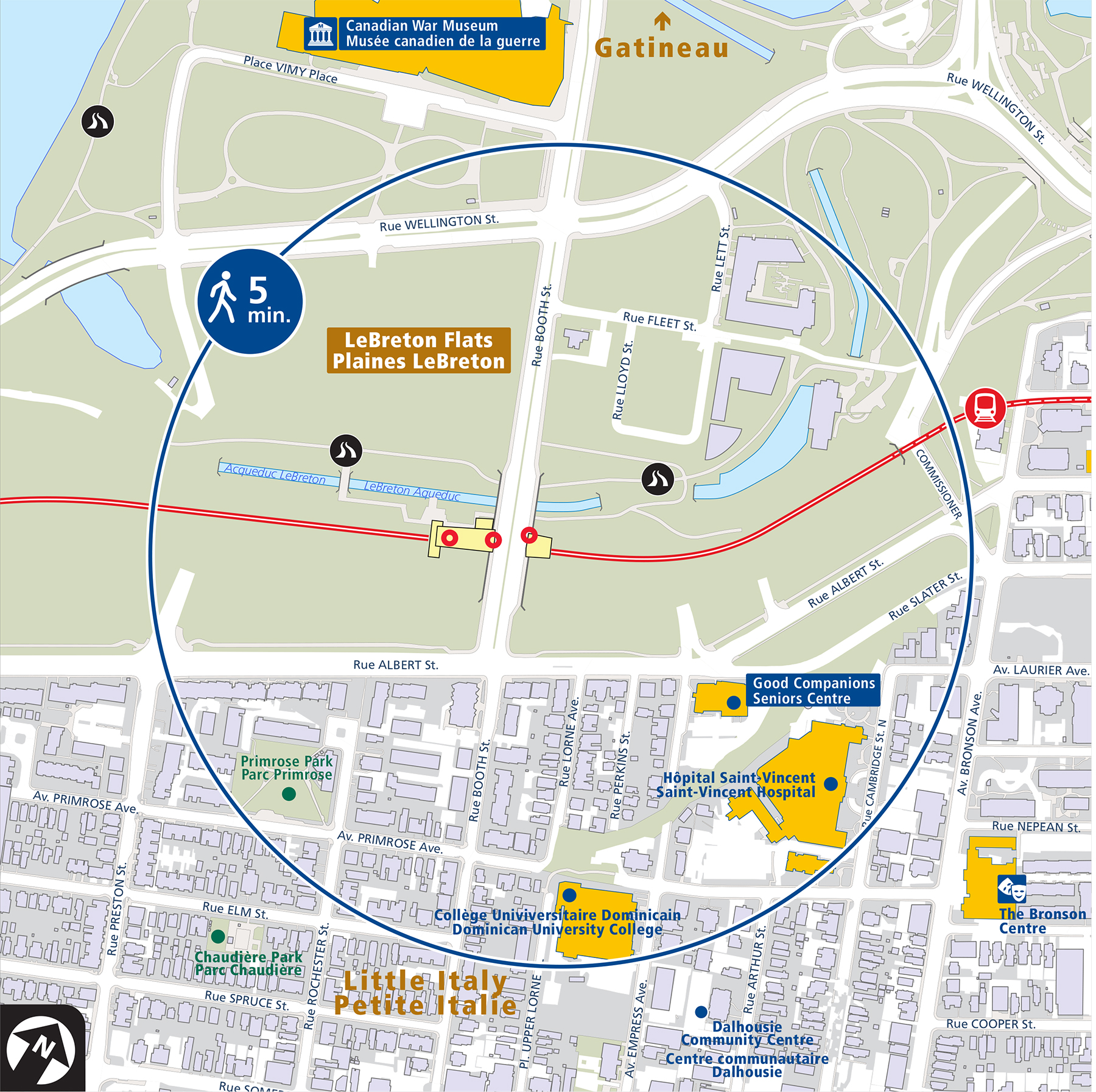 Places of interest within a 5-minute walk of Pimisi Station
