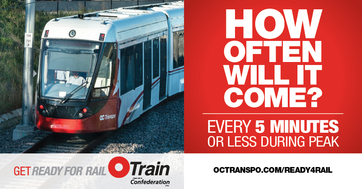 Text: How often will it come? Image: Train