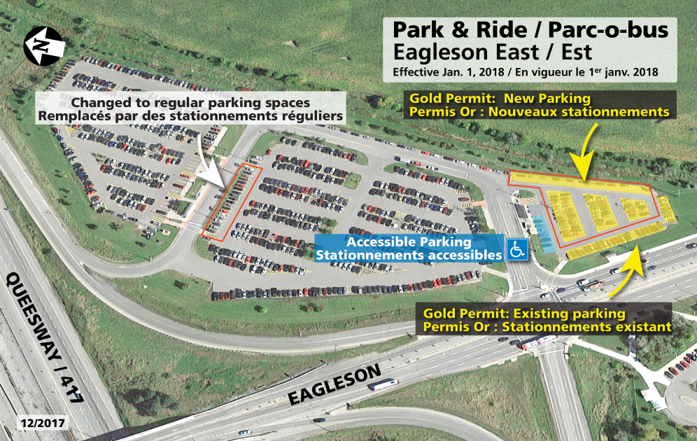 Gold permit parking map