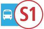 Route icons for S1 service