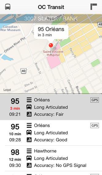 Ottawa OC Transit - Screenshot 2