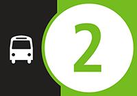 Symbole de autobus de la Ligne2