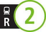 Route icons for R2 service