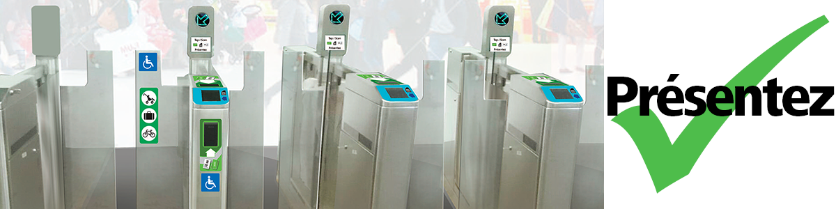 Tap your card at the fare gates