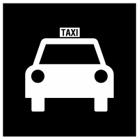 Taxi pickup icon used on signage