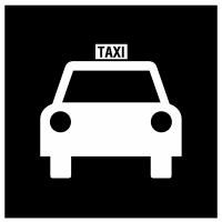 Icône du point de rencontre de taxi