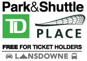 Park and Shuttle TD Place Logo
